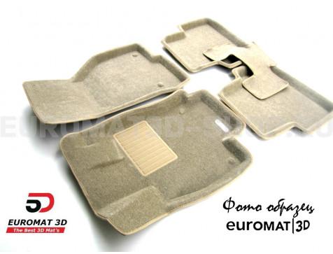 Текстильные 3D коврики Euromat3D Business в салон для Cadillac CTS (2007-2014) (4WD) № EMC3D-001305T Бежевые